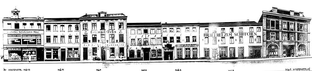 Ansicht der historischen Hafenstraße