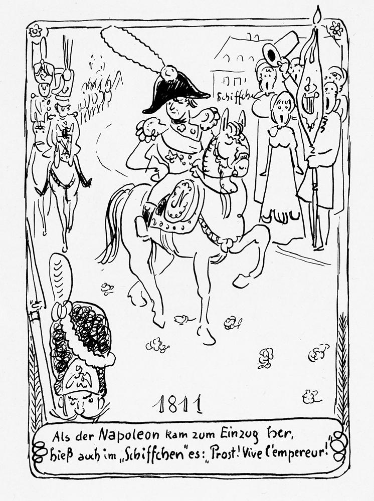 Brauerei zum Schiffchen - Historie Zeichnung